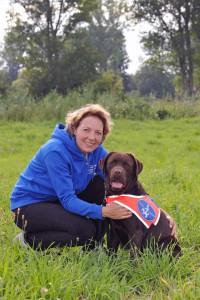 Ausbildung zum Blindenführhund Labrador Emma in der Hessischen Blindenführhundschule Blickpunkt in Dieburg